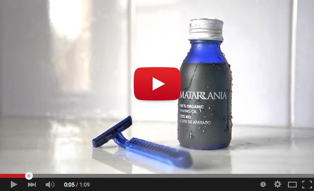 Video aceite de afeitado bio de Matarrania