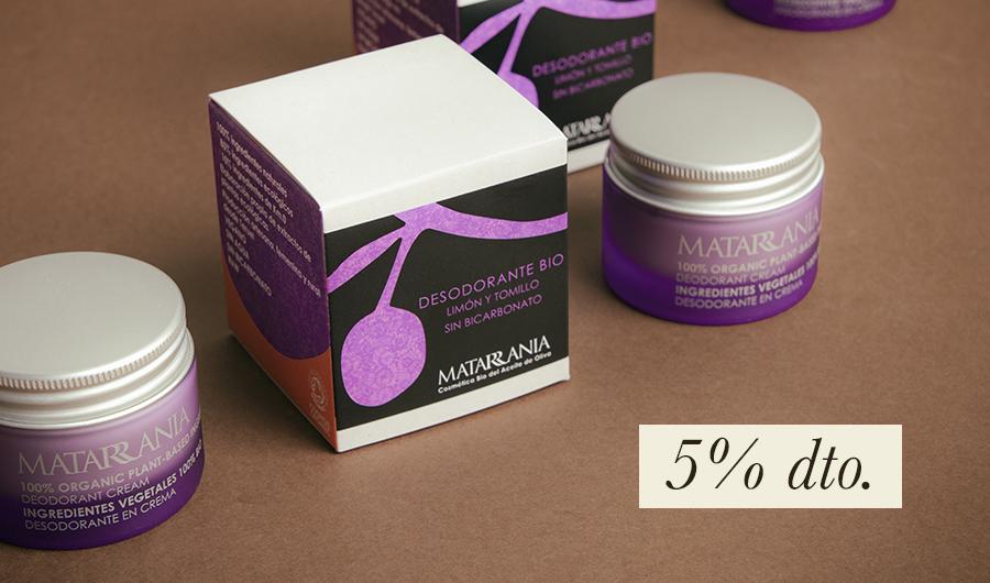 Desodorante en crema, 5% de descuento