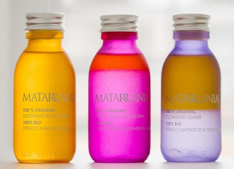 Productos MATARRANIA con hidrolato de rosas
