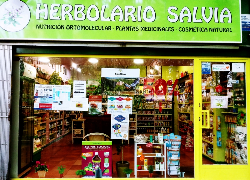 Escaparate del Herbolario Salvia
