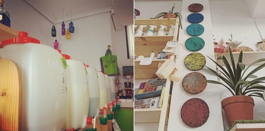 Interior de la tienda 4eco Pinto