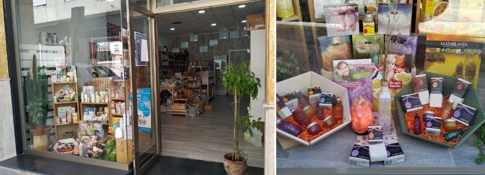 Escaparate tienda Pachamama Cazorla