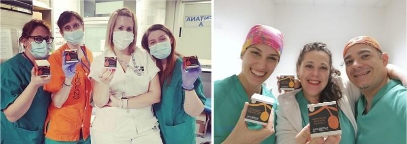 Enfermeras con productos MATARRANIA